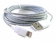 Кабель Iphone 5 USB ткань 1m Луганск